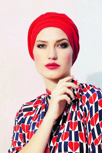 Malou red 09 Gisela Mayer Headwear