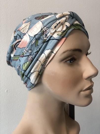Shakti blå blomst Christine headwear