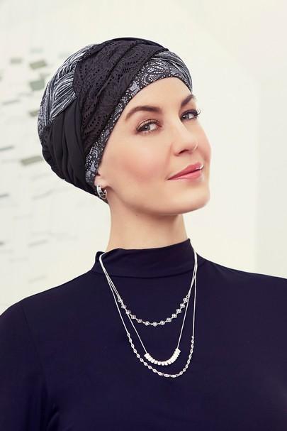 Guna turban til kræftramte og hårtab. Christine Headwear
