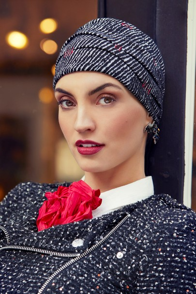 Ruby Skye Boho hat sort fra Christine Headwear