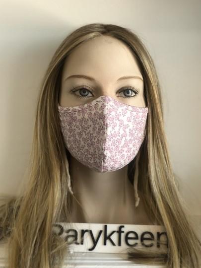 pink flower face mask