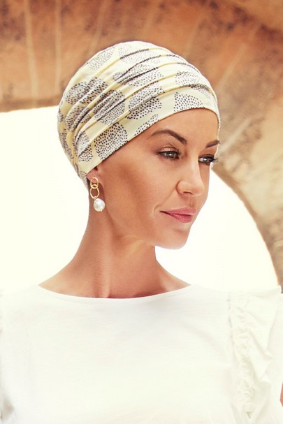 yoga summer lemons turban fra Christine Headwear