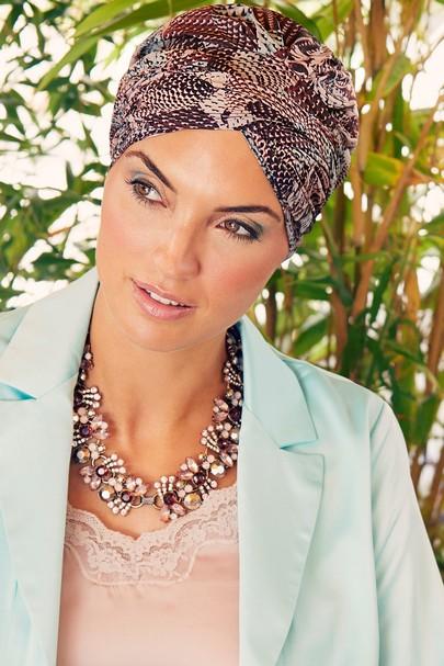 Sapphire boho Rococo Rose hovedbeklædning til kræftramte