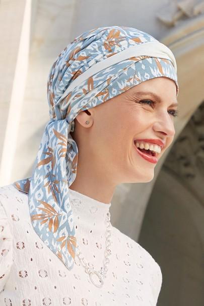 Beatrice turban Ikat Blue Christine Headwear