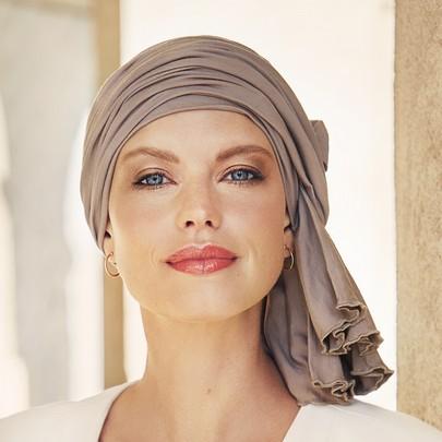 Tula Turban brown fra the headwearcompany