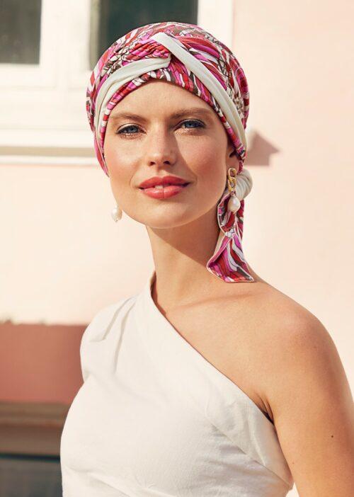 Beatrice turban Indian summer bambus turban fra The Headwear Company