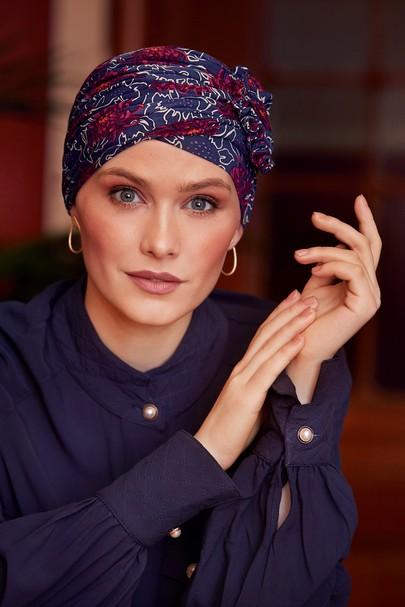 lotus turban Artistic Autumn turban til kræftramte eller alopecia