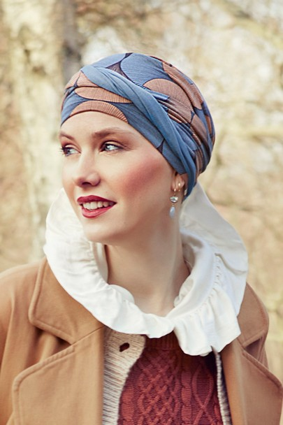 shanti Autumn Illusion turban til kræftramte