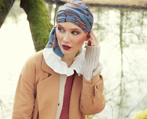 Beatrice autumn illusion fra the headwear company hovedbeklædning til kræftramte
